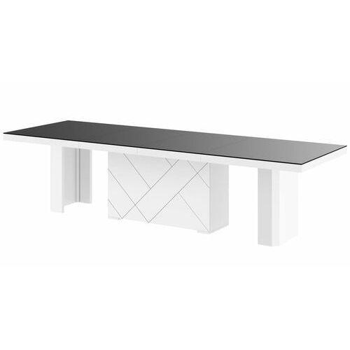 Stół kolos max 180-468 czarno-biały mat marki Hubertus