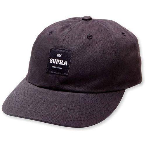 czapka z daszkiem SUPRA - Label Slider Hat Black (008) rozmiar: OS, kolor czarny