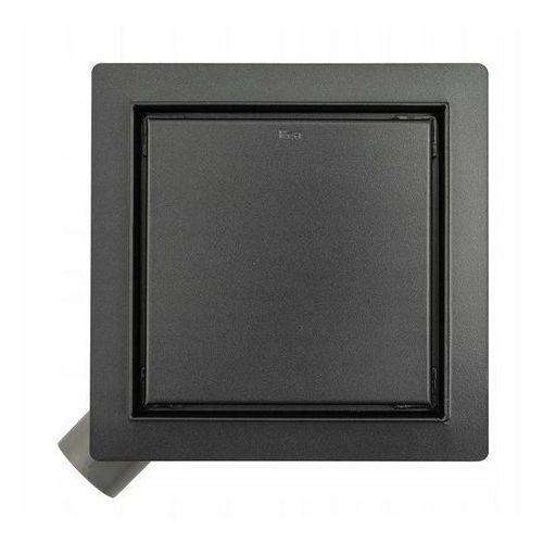 Odpływ liniowy kwadratowy 15x15 cm Pure Neo Black Rea