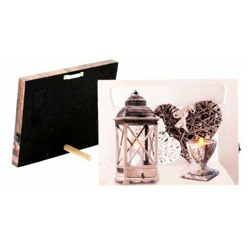 Obraz na płótnie led romantic, 20 x 15 cm marki 4-home