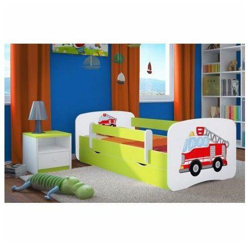 Łóżko dziecięce z szufladą happy 2x mix 70x140 - zielone marki Producent: elior