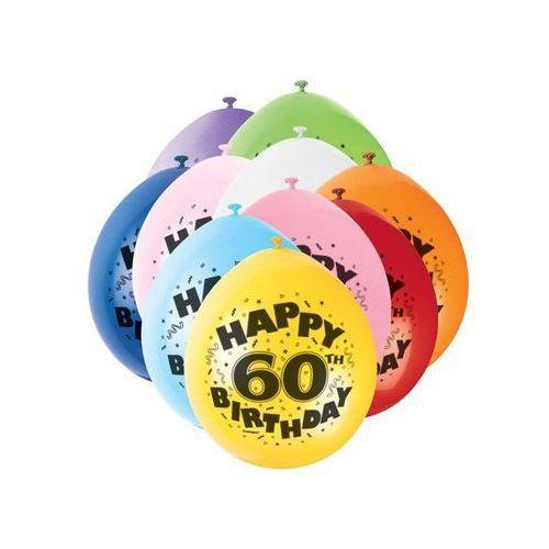 Balony pastelowe z nadrukiem 60 - mix - 23 cm - 10 szt.