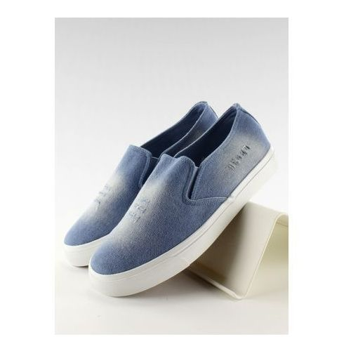 Trampki slip-on model k-89 light blue marki Inello