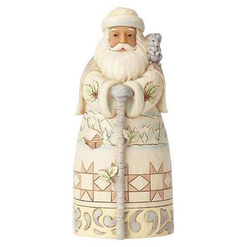 Biały mikołaj - zimowa przygoda czeka -winter adventure nd santa with cane) 6001415 awaits (white woodla figurka ozdoba świąteczna marki Jim shore