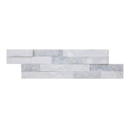 Kamień naturalny quartz 10 x 35 cm white&grey 0,39 m2 marki Iryda