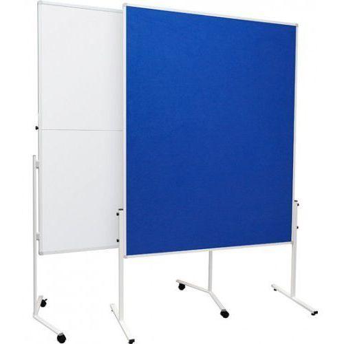 Tablica moderacyjna 2x3 suchościeralno lakierowana dwustronna, składana, na kółkach 120x150cm, MTS1215/DV