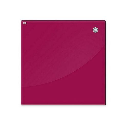 2x3 Tablica szklana magnetyczna suchościeralna 45x45cm czerwona tsz4545 r