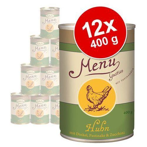 Korzystny pakiet Lukullus Menu Gustico, 12 x 400 g - Łosoś z ryżem (4260077041405)