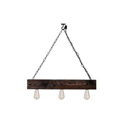 Lampa z belki drewnianej wisząca Balzan MABRILLO- palisander