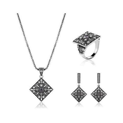Cloe Komplet biżuterii atrakcyjny srebrny - srebrny