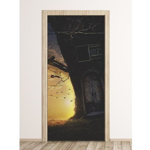 Fototapeta na drzwi dla dzieci domek w drzewie fp 6013 marki Wally - piękno dekoracji