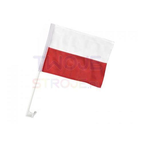 Twojestroje.pl Flaga polska samochodowa biało-czerwona 30x45cm (6681778980011)