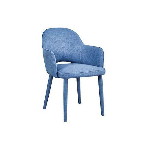 Krzesło metalowe SIGNAL ROBIN granatowy LOFT, kolor niebieski