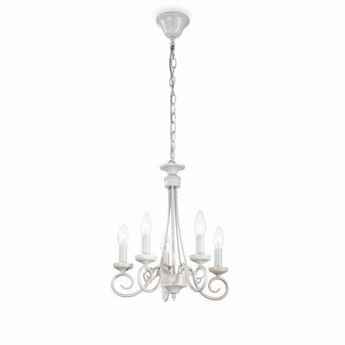 Ideal Lux Lampa wisząca Brandy SP5 - 066622, kolor biały