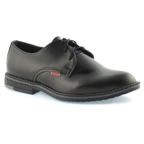 Eleganckie buty komunijne dla chłopca 130/03 - czarny marki Zarro