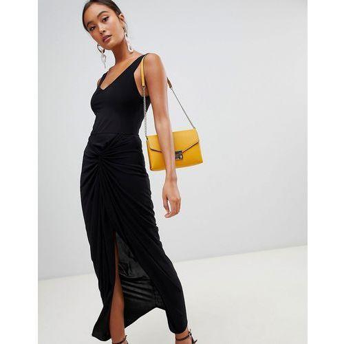 bardot twist back maxi dress - black, Miss selfridge