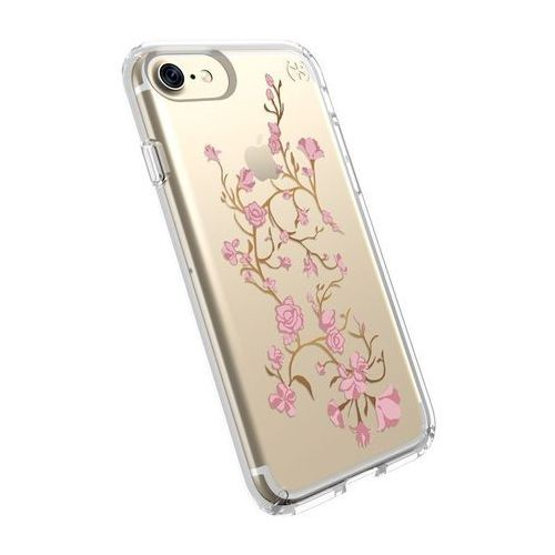 Speck Presidio Clear with Print - Etui iPhone 8 (Goldenblossoms Pink/Clear), kolor różowy