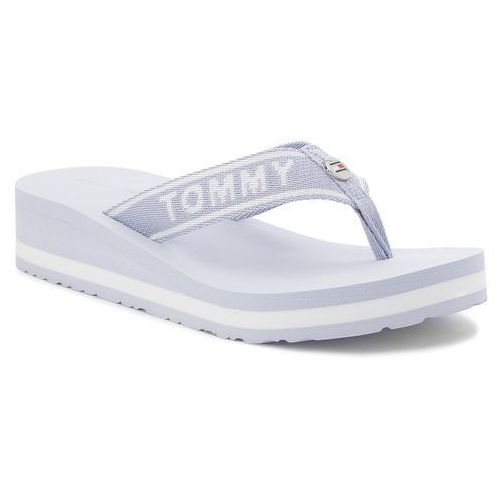 20717f8e81c0c Japonki TOMMY HILFIGER - Tommy Branding Beach Sandal FW0FW02953 Halogen  Blue 425, w 5 rozmiarach