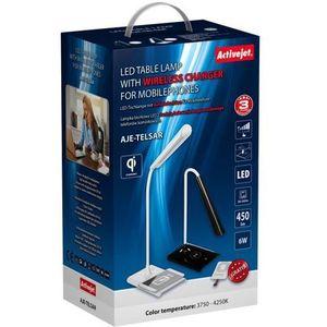 Activejet lampka biurkowa led aje-telsar white darmowy odbiór w 20 miastach! (5901443104414)