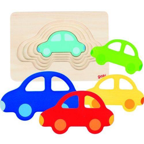 Puzzle warstwowe samochodzik, -57485 marki Goki