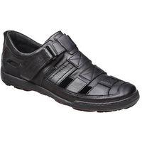 Półbuty sandały 1-4208-253 czarne - czarny, Kacper