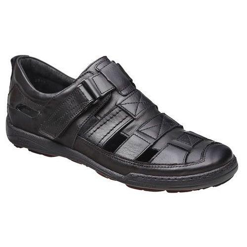 Kacper Półbuty sandały 1-4208-253 czarne - czarny