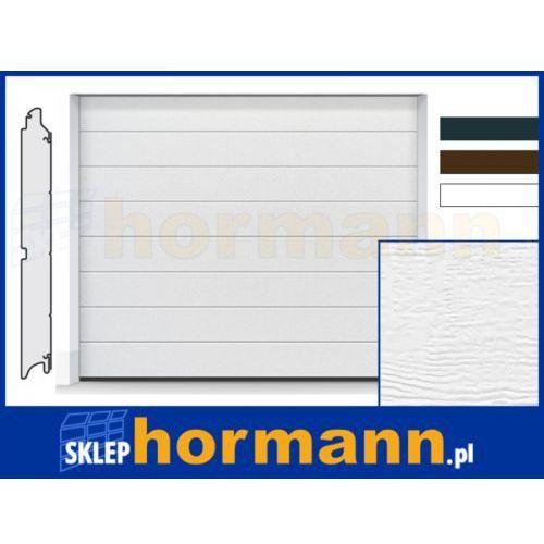Brama renomatic light 2018, 2375 x 2000, przetłoczenia m, woodgrain, kolor do wyboru: biały, brązowy, antracytowy marki Hormann