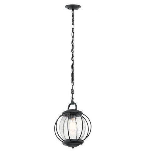 Zewnętrzna lampa wisząca vandalia kl/vandalia8/m elstead tarasowa oprawa zwis na łańcuchu kula ball drut ip44 czarny marki Kichler