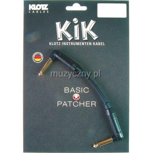 Klotz KIK PA 020 RR kabel instrumentalny jack kątowy-jack kątowy 0,2m, pozłacane wtyki
