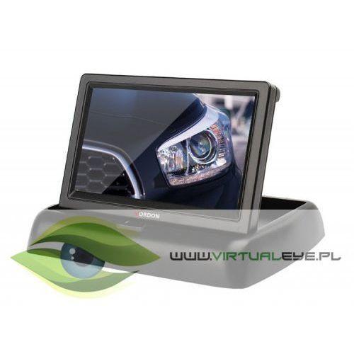 Virtualeye Zestaw kamera cofania vordon 8irpl + monitor vordon cr-43