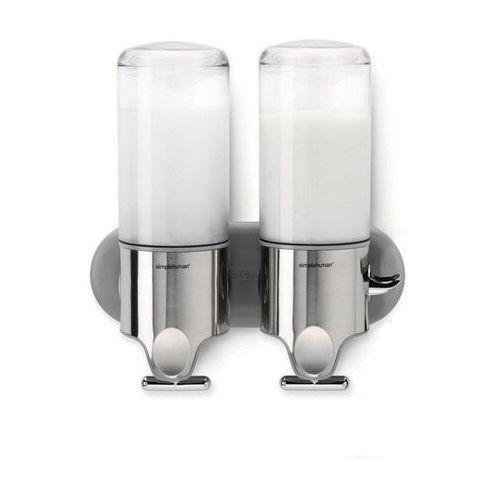 Simplehuman - dozowniki do płynów pod prysznic - podwójny srebrny
