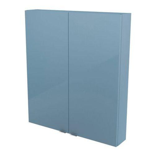 Goodhome Szafka wisząca imandra 80 x 90 x 15 cm niebieska