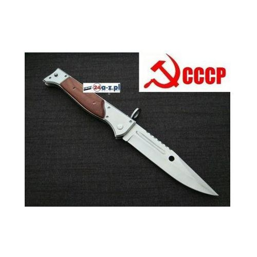 Duży Bagnet Sprężynowy (dł. 34cm) AK-47 CCCP (kałasznikow) + Pokrowiec/Kabura do Pasa., 590757300708