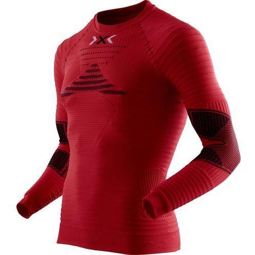 X-bionic running effektor power bielizna górna mężczyźni czerwony bluzki sportowe