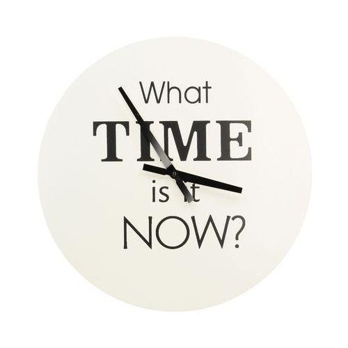 """Dekoria Zegar ścienny """"What time..."""" śr. 38cm, 38 × 2,5 × 38 cm"""