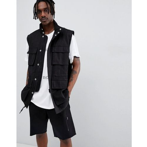 limited edition ease utility vest - black marki Weekday