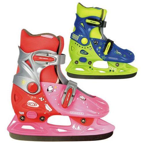 Dziecięce łyżwy WORKER Kelly, Różowo-czerwony, S (33-36) (8595153642303)