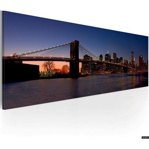 SELSEY Obraz - Most Brookliński - panorama 120x40 cm