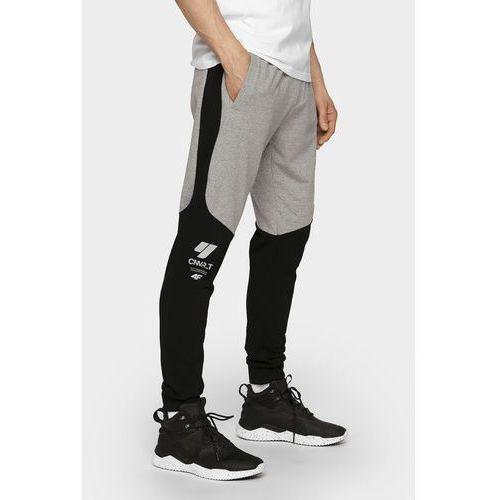 Spodnie dresowe męskie SPMD205 - szary melanż, kolor szary