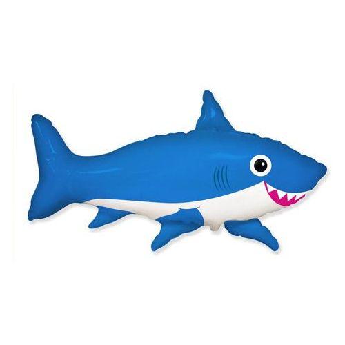 Flx Balon foliowy uśmiechnięty rekin niebieski - 60 cm - 1 szt. (5902973121025)