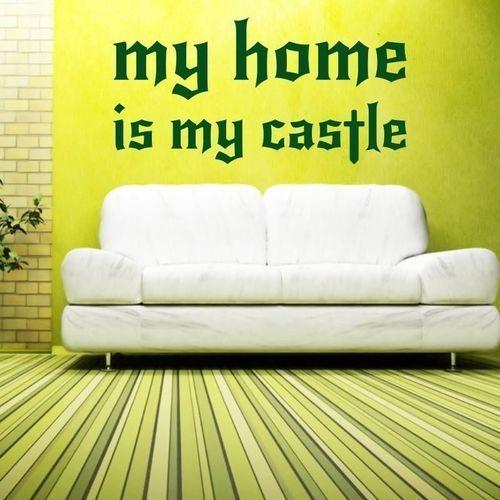 naklejka 03X 19 my home is my castle 1726