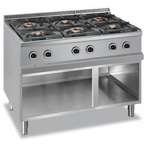 Kuchnia gazowa 6 palnikowa   28500W