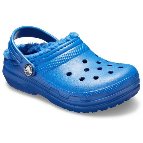 Crocs sandały classic fuzz lined clog blue jean/blue jean, 29-30 (c12)