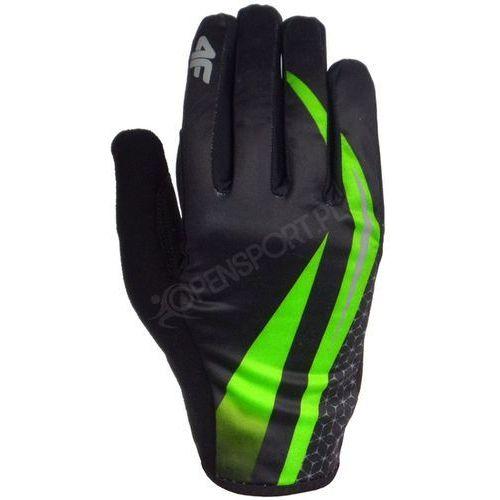 Żelowe rękawiczki rowerowe c4l16 rru005 zielony l marki 4f