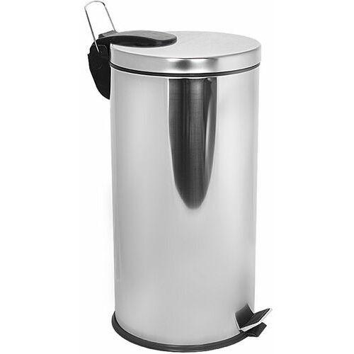 Kosz na śmieci ze stali nierdzewnej 40l Kosz na śmieci metalowy 40 litrowy