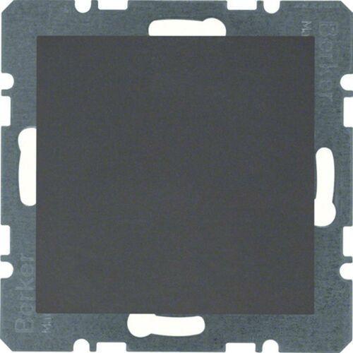 BERKER B.Kwadrat/B.3/B.7 Zaślepka z płytką czołową, bez pazurków rozporowych, antracyt 10091606, 10091606