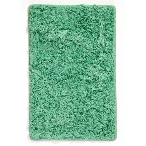 Dywaniki łazienkowe ze sztucznym futerkiem i pianką memory bonprix zielony