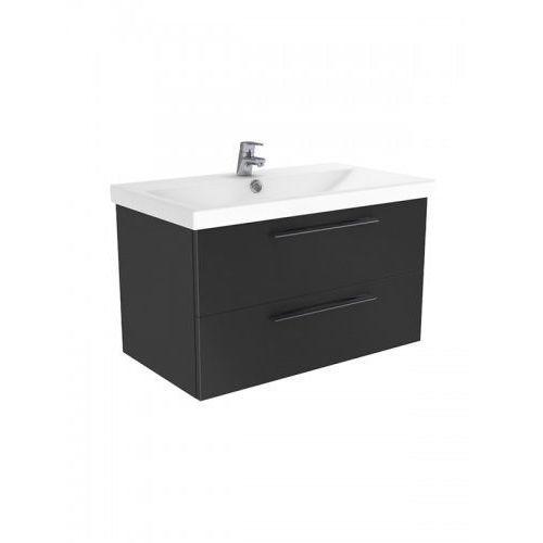 New Trendy Notti szafka wisząca + umywalka antracyt połysk 80 cm ML-EL180