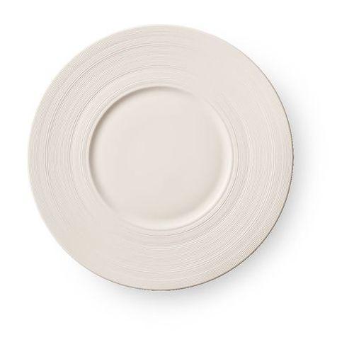 Talerz płytki porcelanowy z szerokim rantem manhattan marki Luzerne