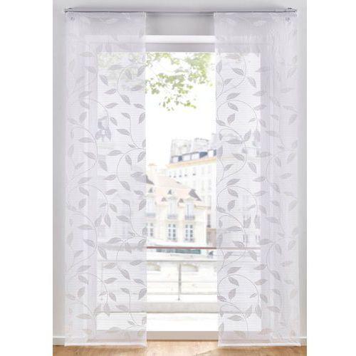 Bonprix Firana panelowa z nadrukiem w liście (1 szt.) biały